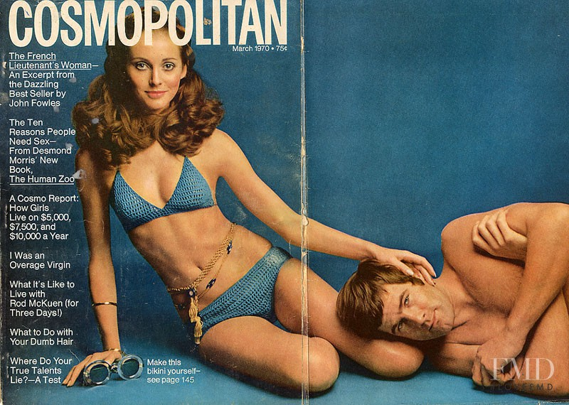 featured on the Cosmopolitan USA cover from March 1970