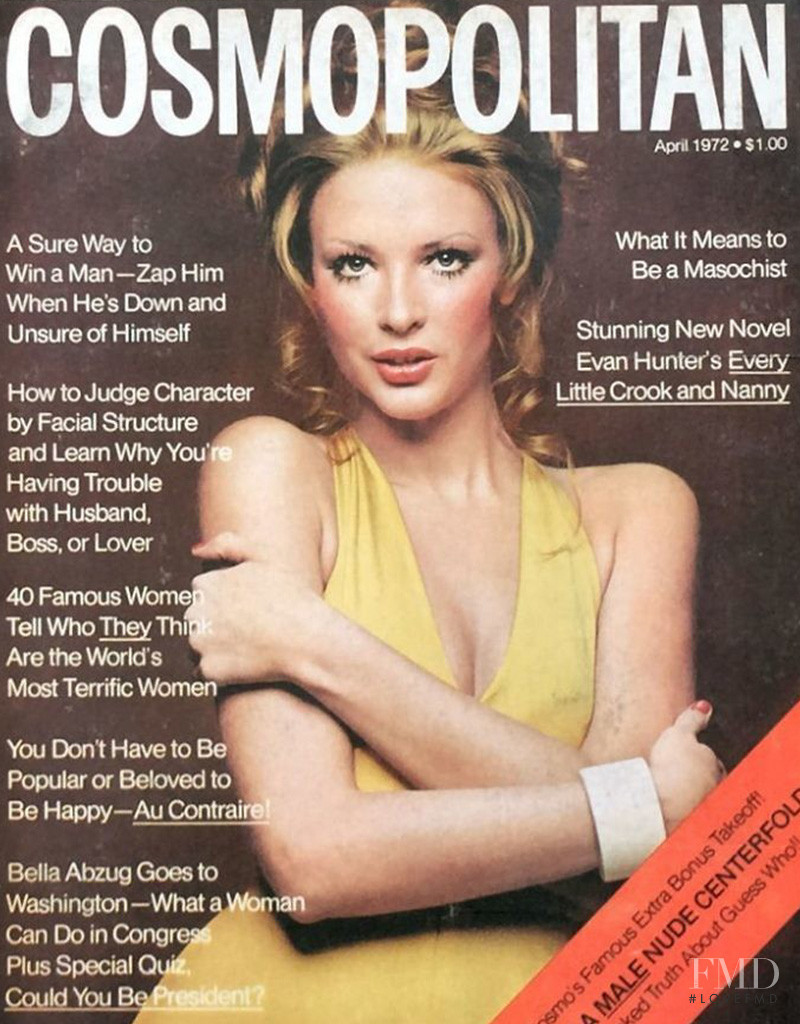 Karen Bjornson featured on the Cosmopolitan USA cover from April 1972