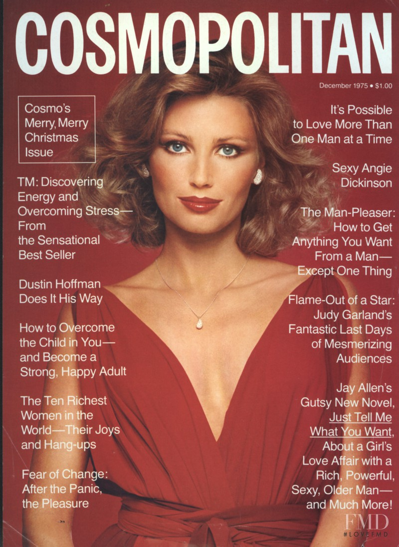 featured on the Cosmopolitan USA cover from December 1975