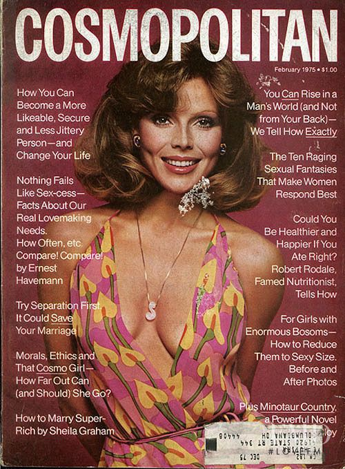 featured on the Cosmopolitan USA cover from February 1975