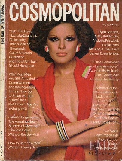 featured on the Cosmopolitan USA cover from June 1975