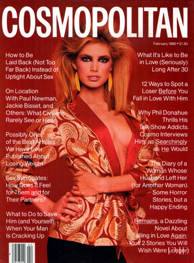 Kelly Emberg featured on the Cosmopolitan USA cover from February 1980