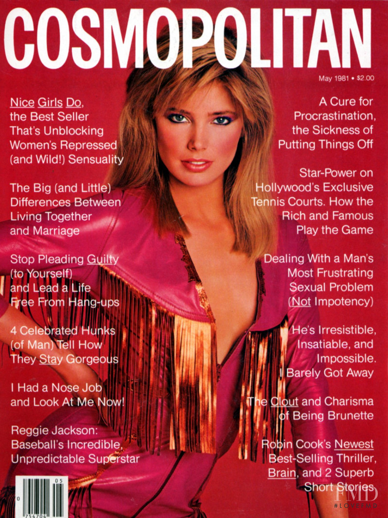 Kelly Emberg featured on the Cosmopolitan USA cover from May 1981