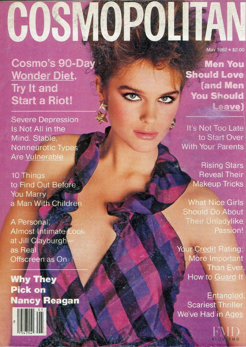 Jackie Adams featured on the Cosmopolitan USA cover from May 1982