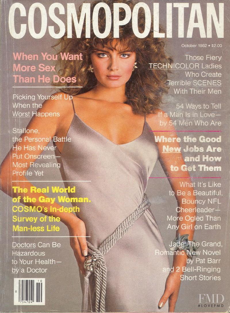 Paulina Porizkova featured on the Cosmopolitan USA cover from October 1982