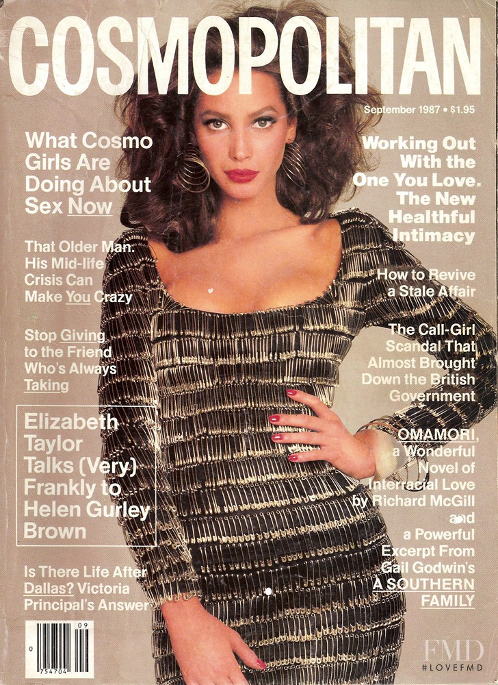 Christy Turlington featured on the Cosmopolitan USA cover from September 1987