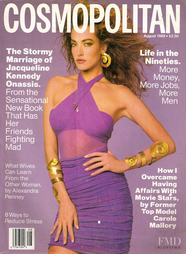 Tatjana Patitz featured on the Cosmopolitan USA cover from August 1989