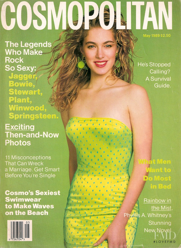 featured on the Cosmopolitan USA cover from May 1989