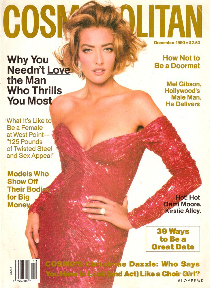 Tatjana Patitz featured on the Cosmopolitan USA cover from December 1990