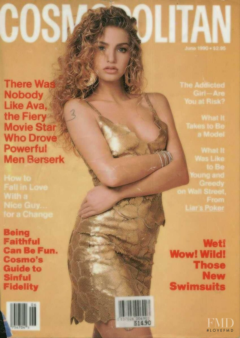 Michaela Bercu featured on the Cosmopolitan USA cover from June 1990