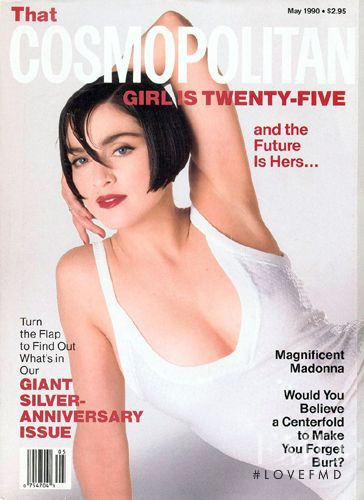 Madonna featured on the Cosmopolitan USA cover from May 1990