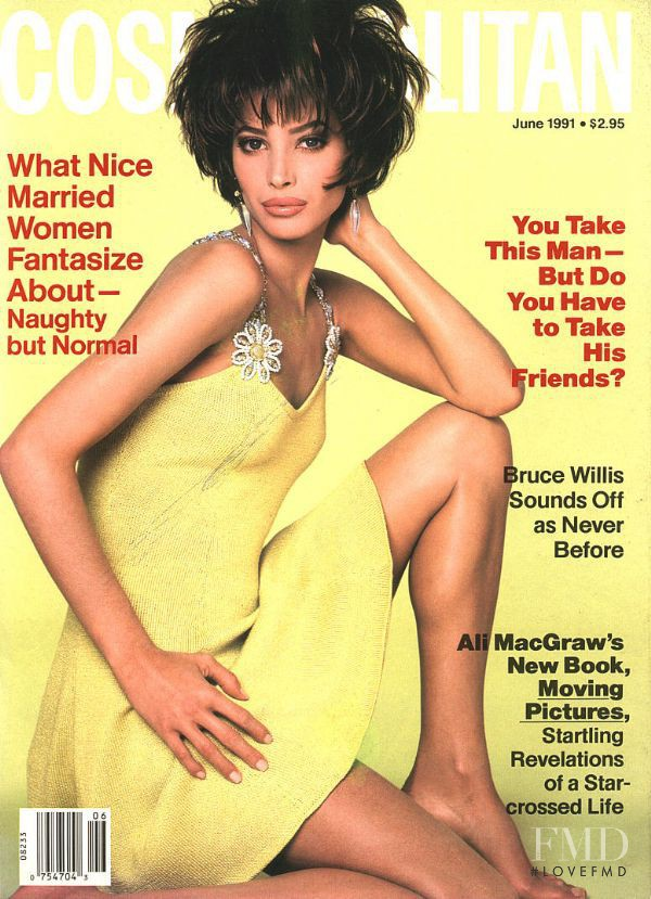 Christy Turlington featured on the Cosmopolitan USA cover from June 1991