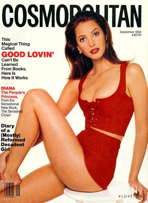 Christy Turlington featured on the Cosmopolitan USA cover from September 1993