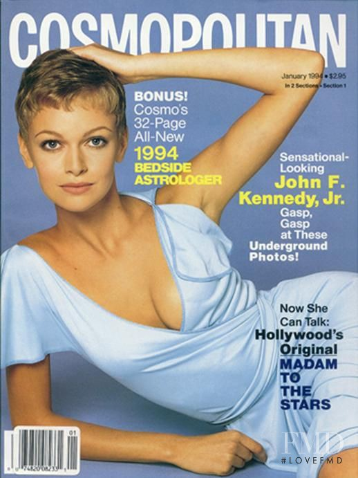 Sarah Murdoch featured on the Cosmopolitan USA cover from January 1994