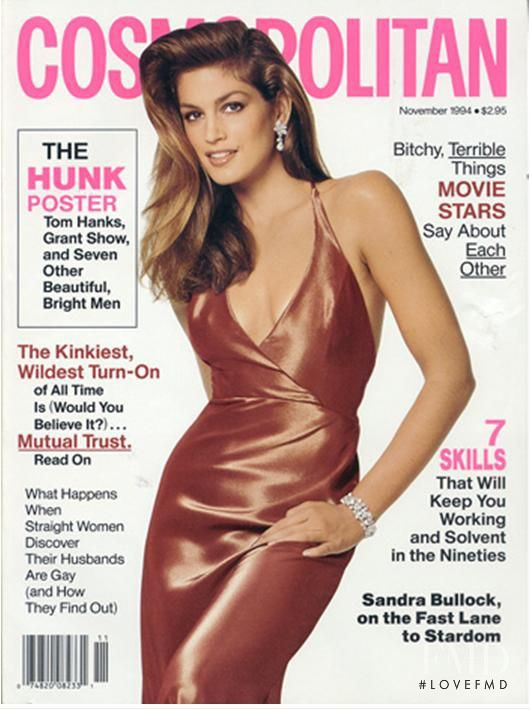 Cindy Crawford featured on the Cosmopolitan USA cover from November 1994