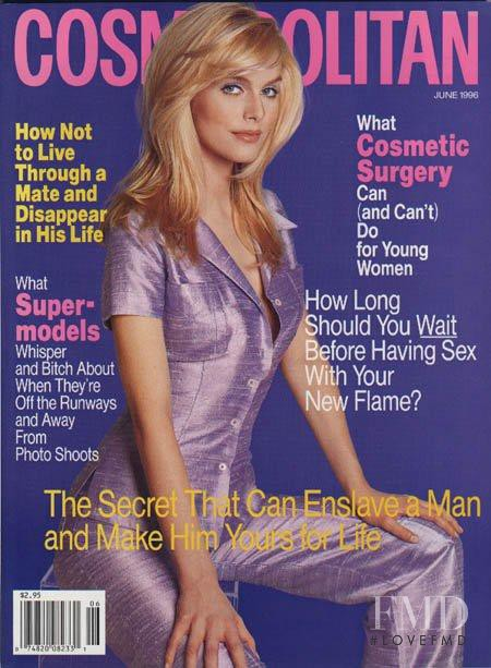 Julia Valet featured on the Cosmopolitan USA cover from June 1996