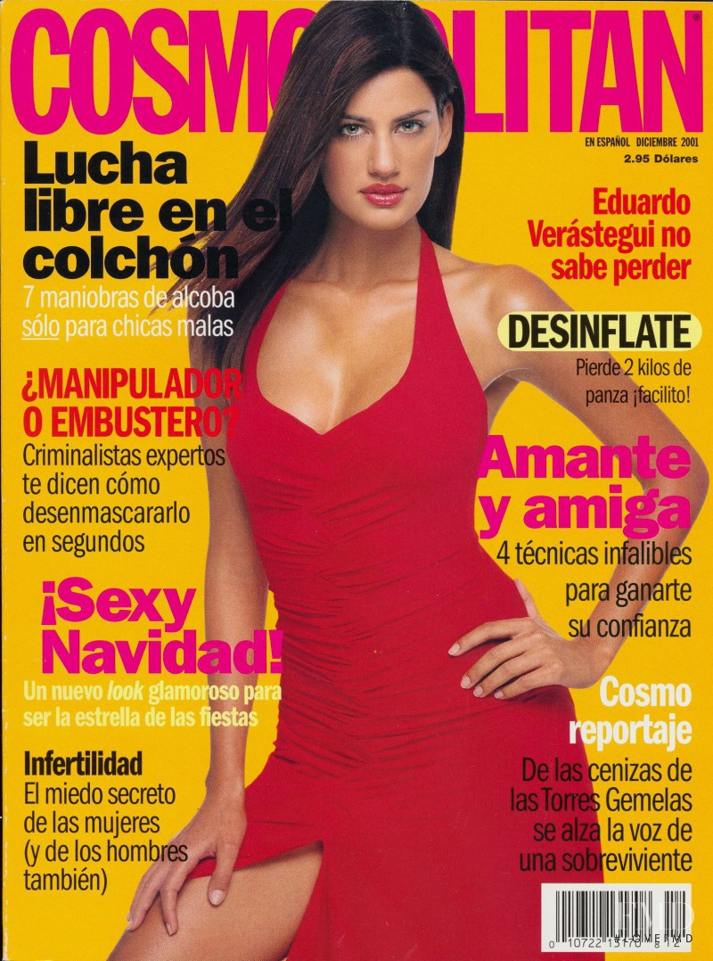 Yamila Diaz Rahi featured on the Cosmopolitan USA cover from December 2001