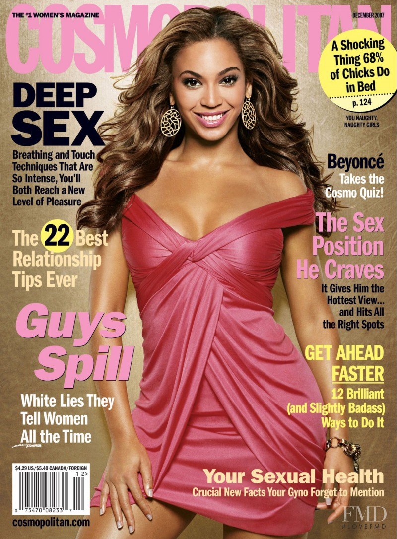 Beyoncé featured on the Cosmopolitan USA cover from December 2007