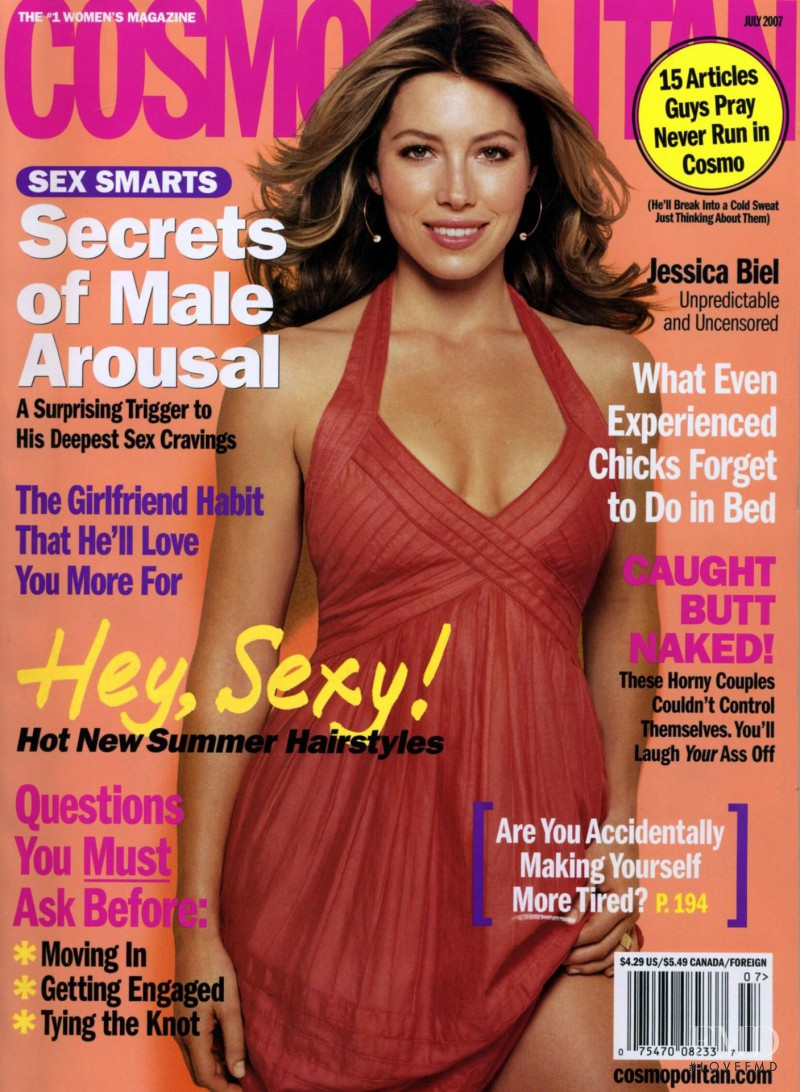 Jessica Biel featured on the Cosmopolitan USA cover from July 2007
