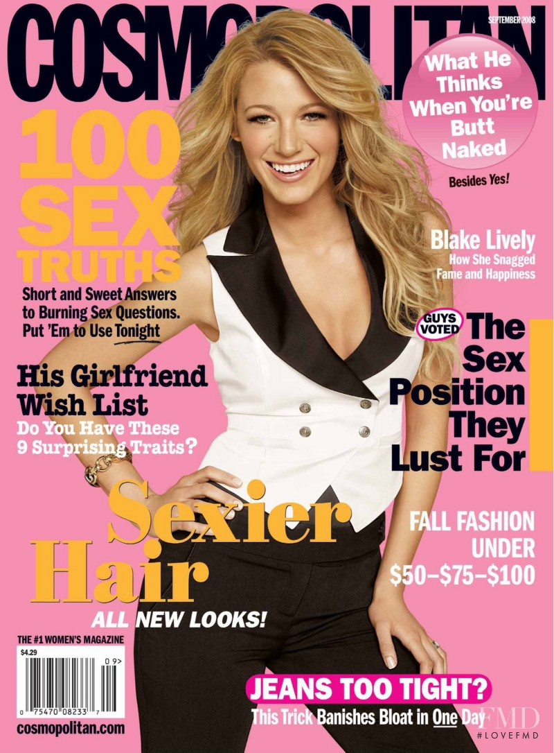 Blake Lively featured on the Cosmopolitan USA cover from September 2008