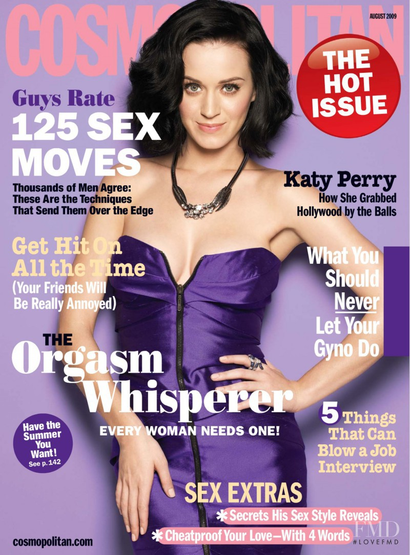 Katy Perry featured on the Cosmopolitan USA cover from August 2009