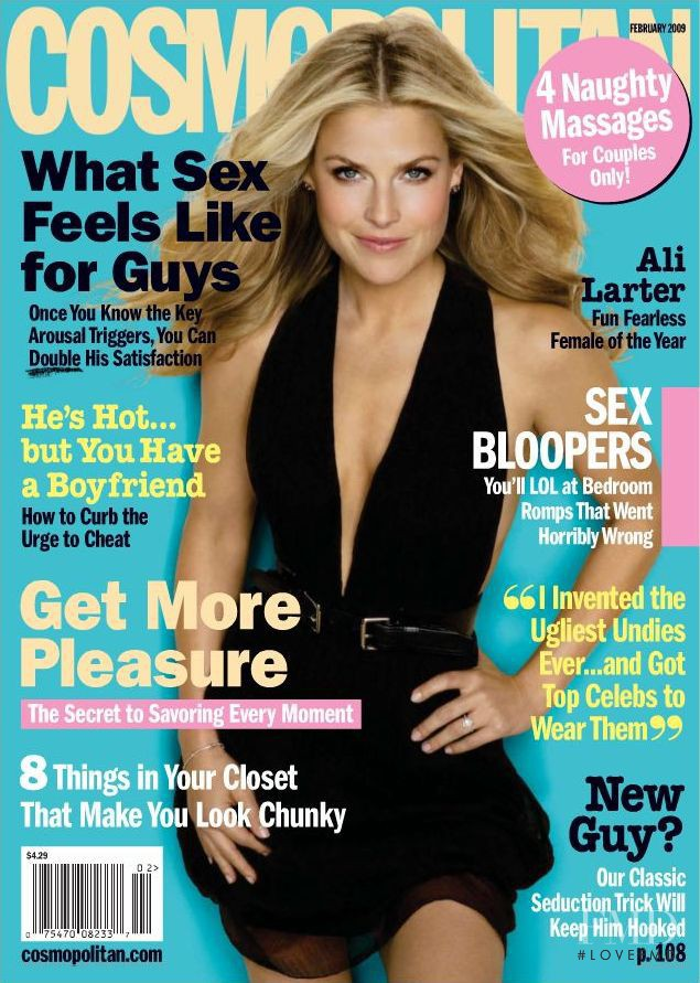 Ali Larter featured on the Cosmopolitan USA cover from February 2009