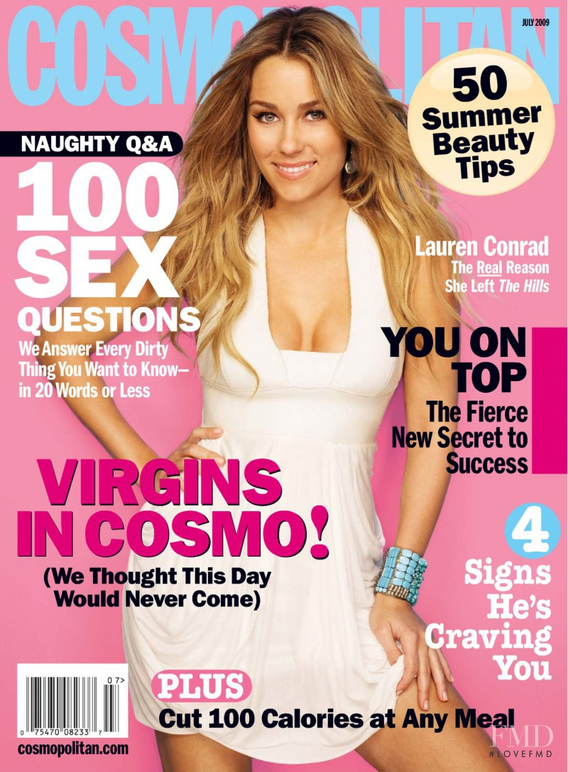 Lauren Conrad featured on the Cosmopolitan USA cover from July 2009