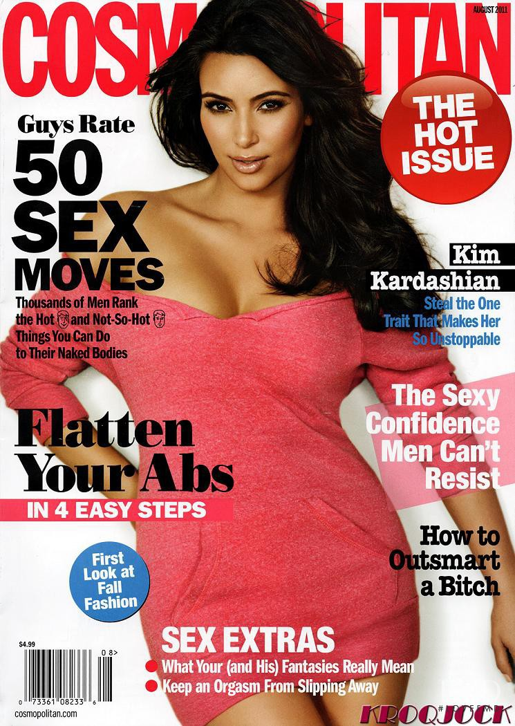 Kim Kardashian featured on the Cosmopolitan USA cover from August 2011