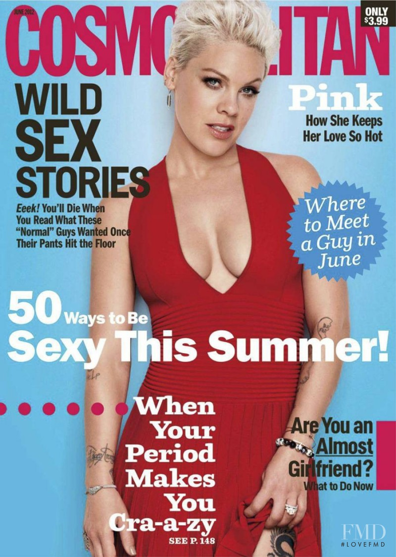 Pink featured on the Cosmopolitan USA cover from June 2012