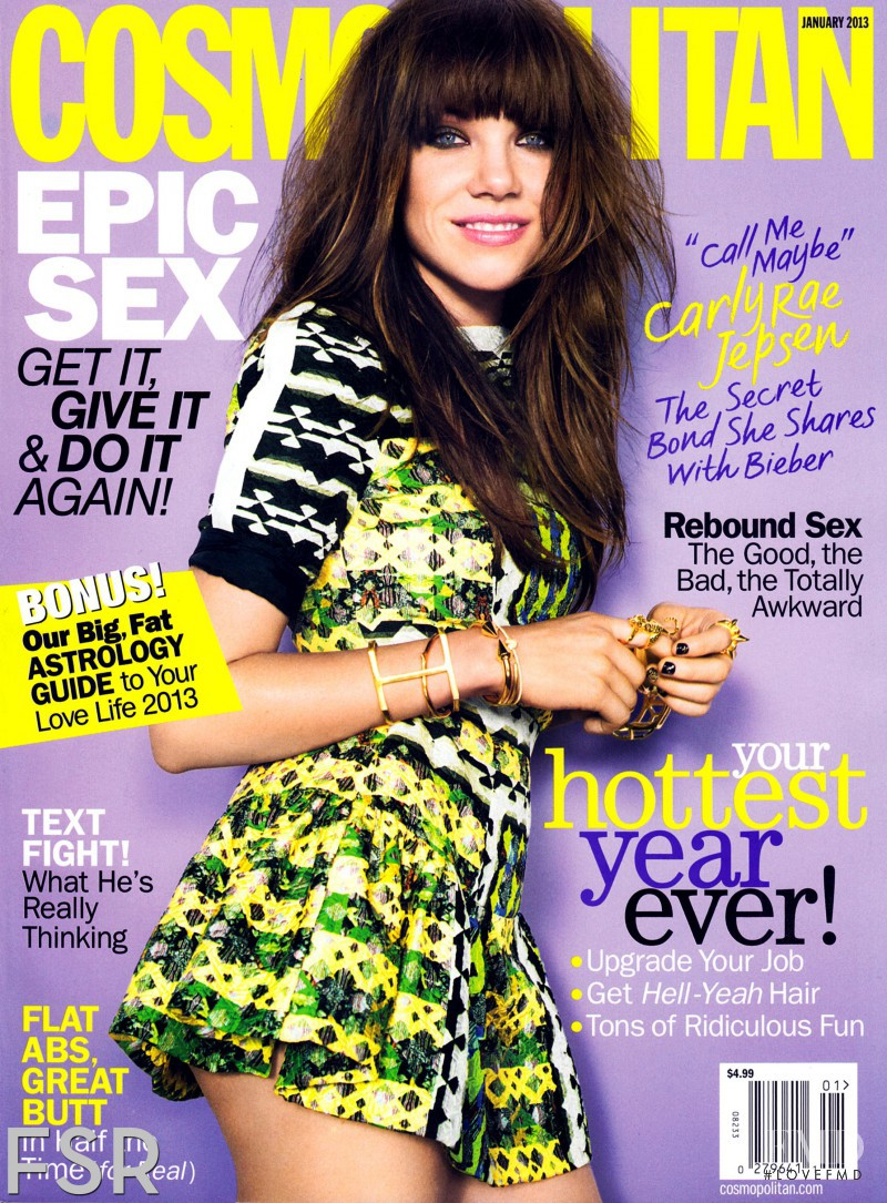 Carly Rae Jepsen  featured on the Cosmopolitan USA cover from January 2013