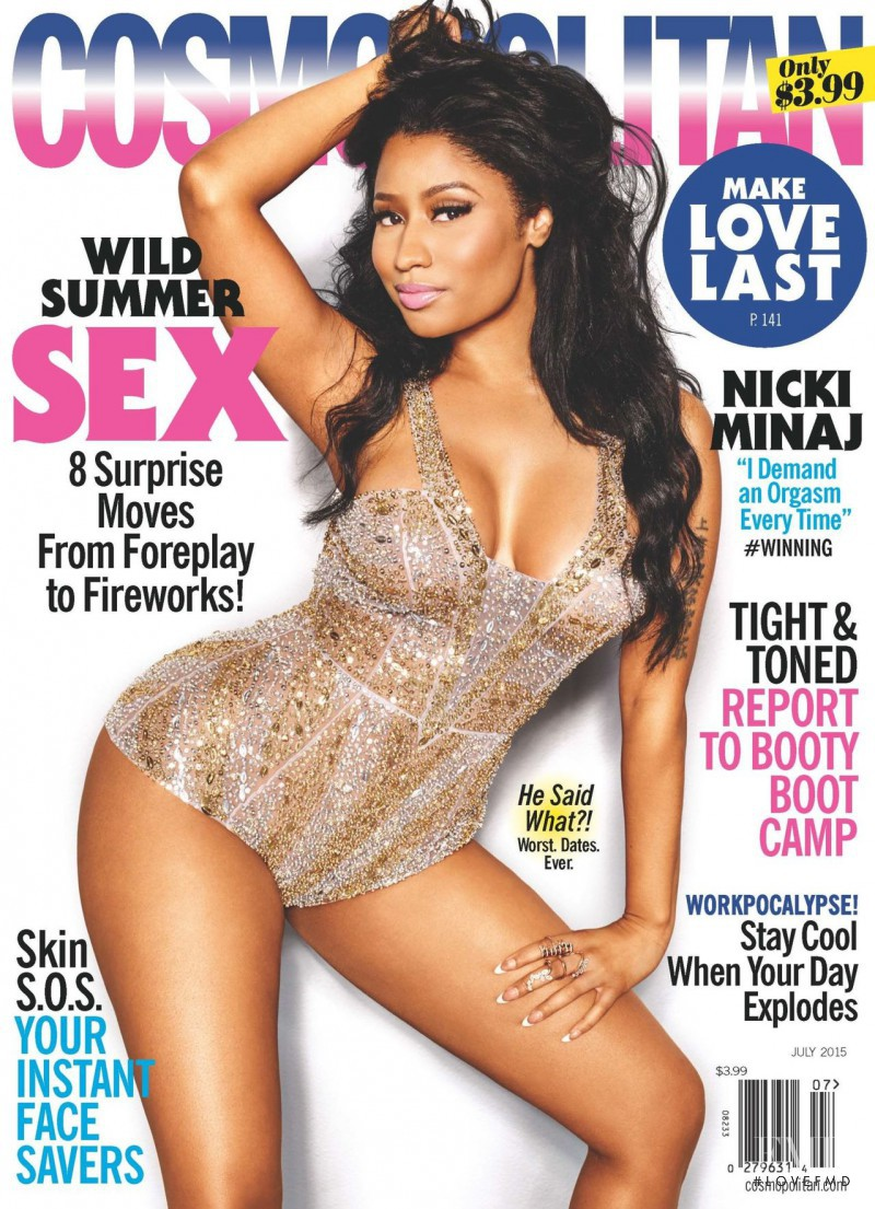Nicki Minaj featured on the Cosmopolitan USA cover from July 2015