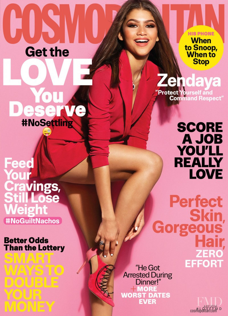 Zendaya featured on the Cosmopolitan USA cover from July 2016