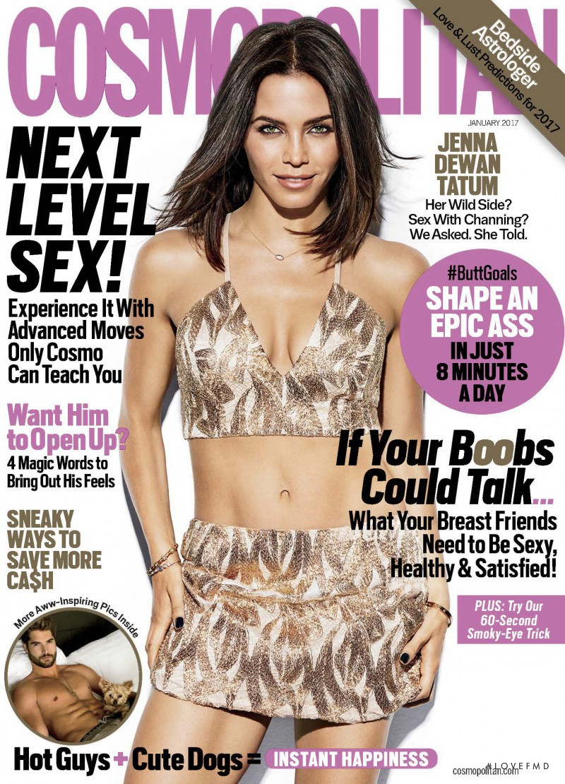 Jenna Dewan Tatum featured on the Cosmopolitan USA cover from January 2017
