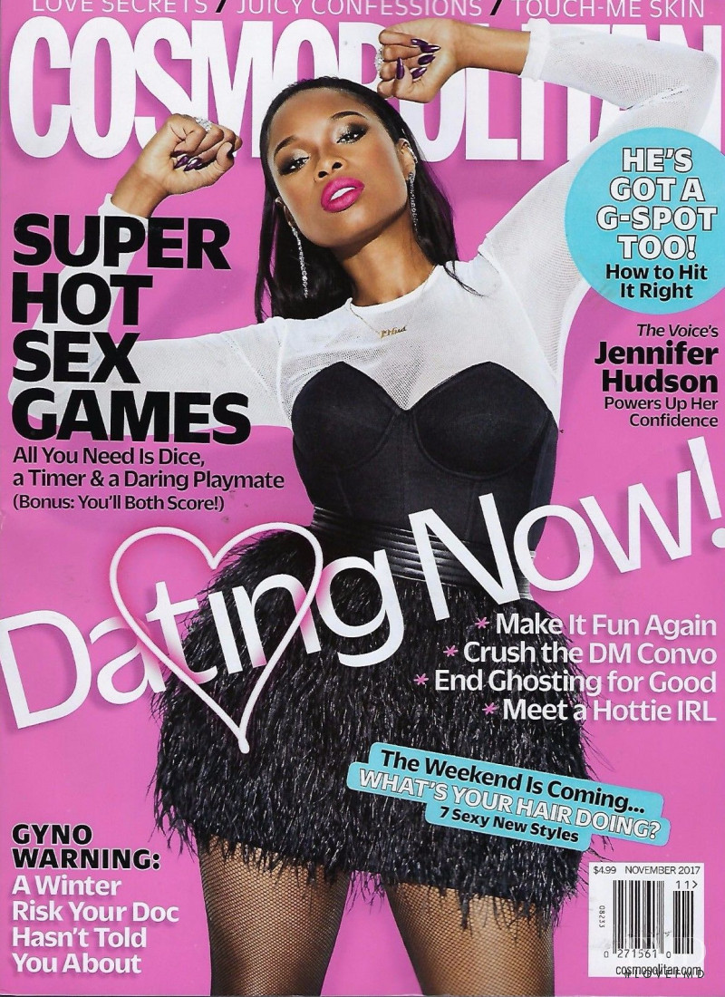 Jennifer Hudson featured on the Cosmopolitan USA cover from November 2017