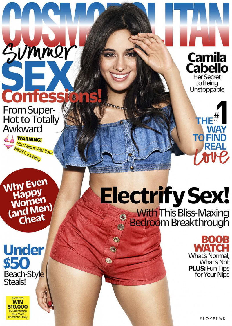 Camila Cabello featured on the Cosmopolitan USA cover from June 2018