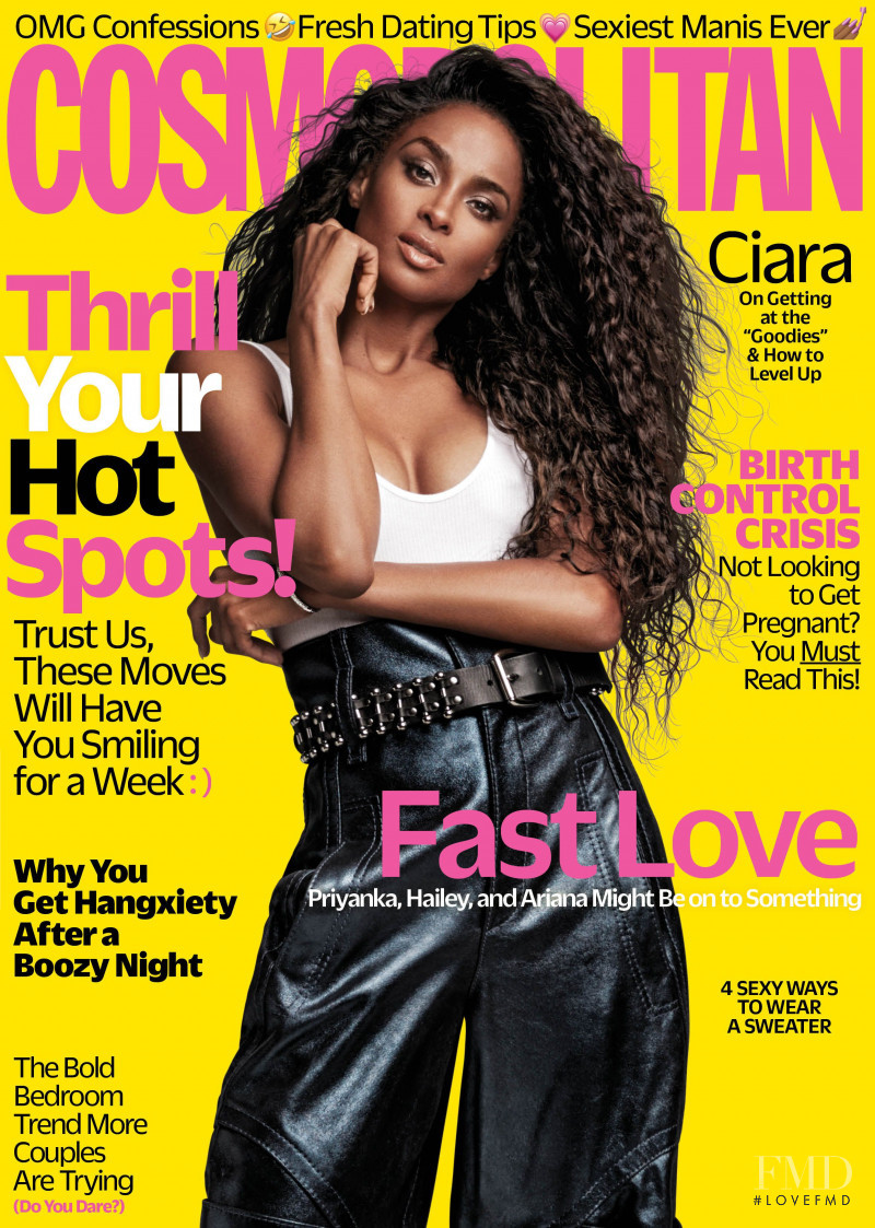 Ciara featured on the Cosmopolitan USA cover from November 2018