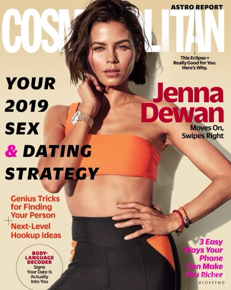 Jenna Dewan featured on the Cosmopolitan USA cover from January 2019