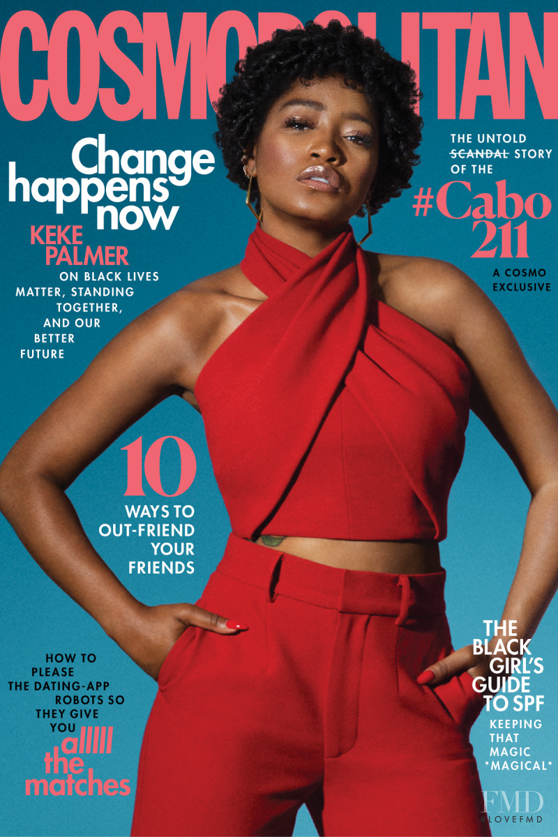 Keke Palmer featured on the Cosmopolitan USA cover from July 2020