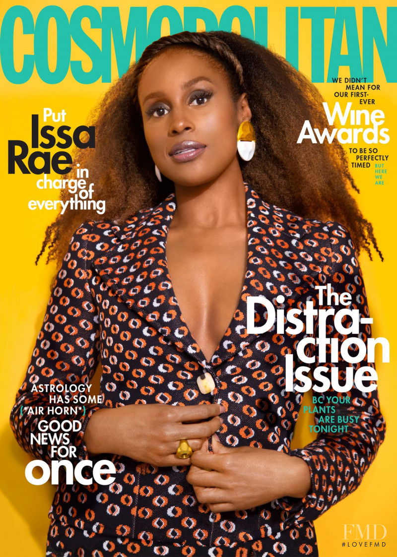 Issa Rae featured on the Cosmopolitan USA cover from June 2020