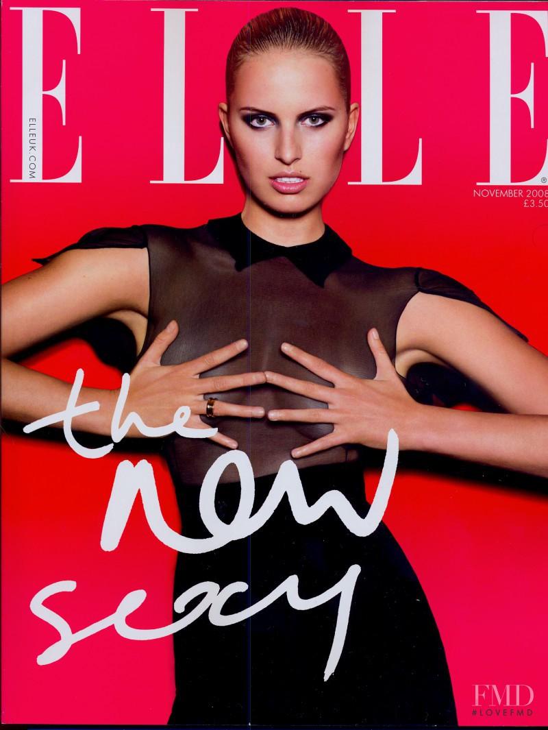 Karolina Kurkova featured on the Elle UK cover from November 2008