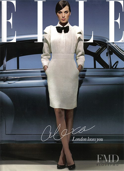 Alexa Chung featured on the Elle UK cover from October 2008