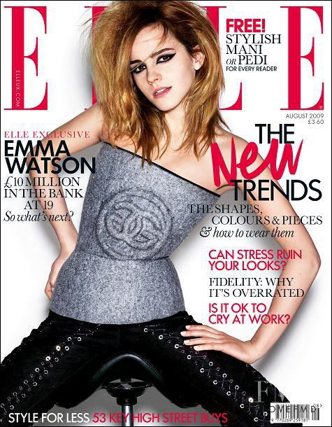 Emma Watson featured on the Elle UK cover from August 2009