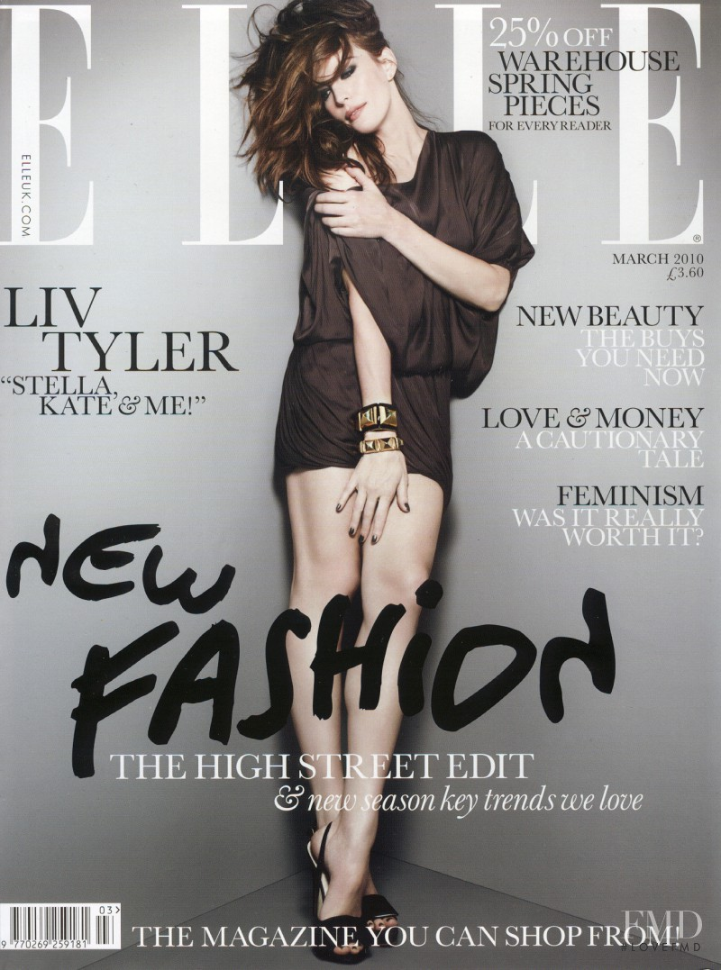 Liv Tyler featured on the Elle UK cover from March 2010