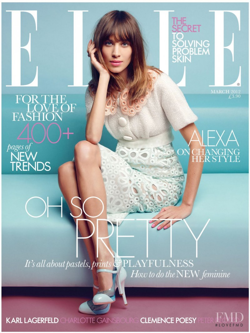 Alexa Chung featured on the Elle UK cover from March 2012