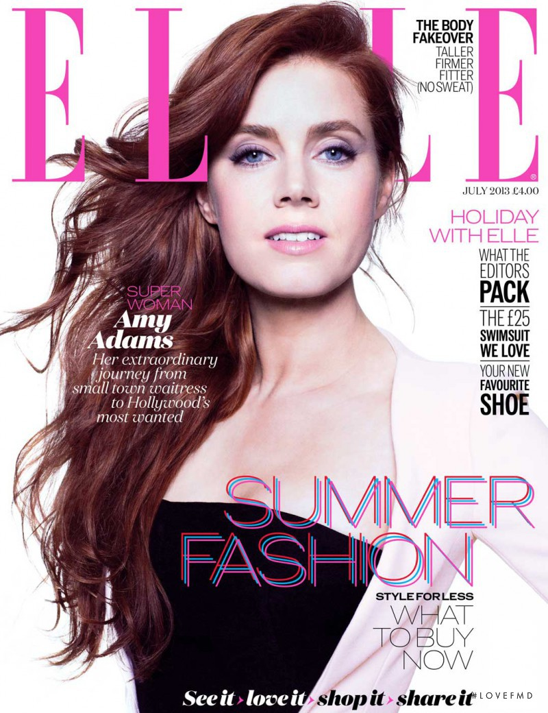 Amy Adams featured on the Elle UK cover from July 2013