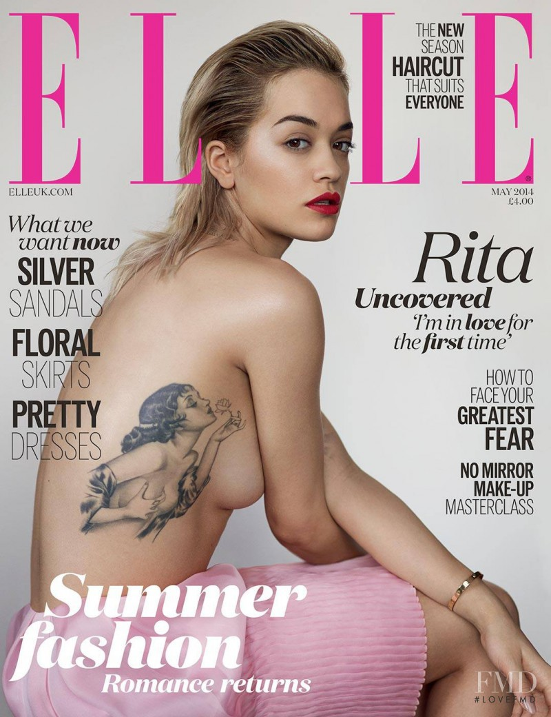 Rita Ora featured on the Elle UK cover from May 2014