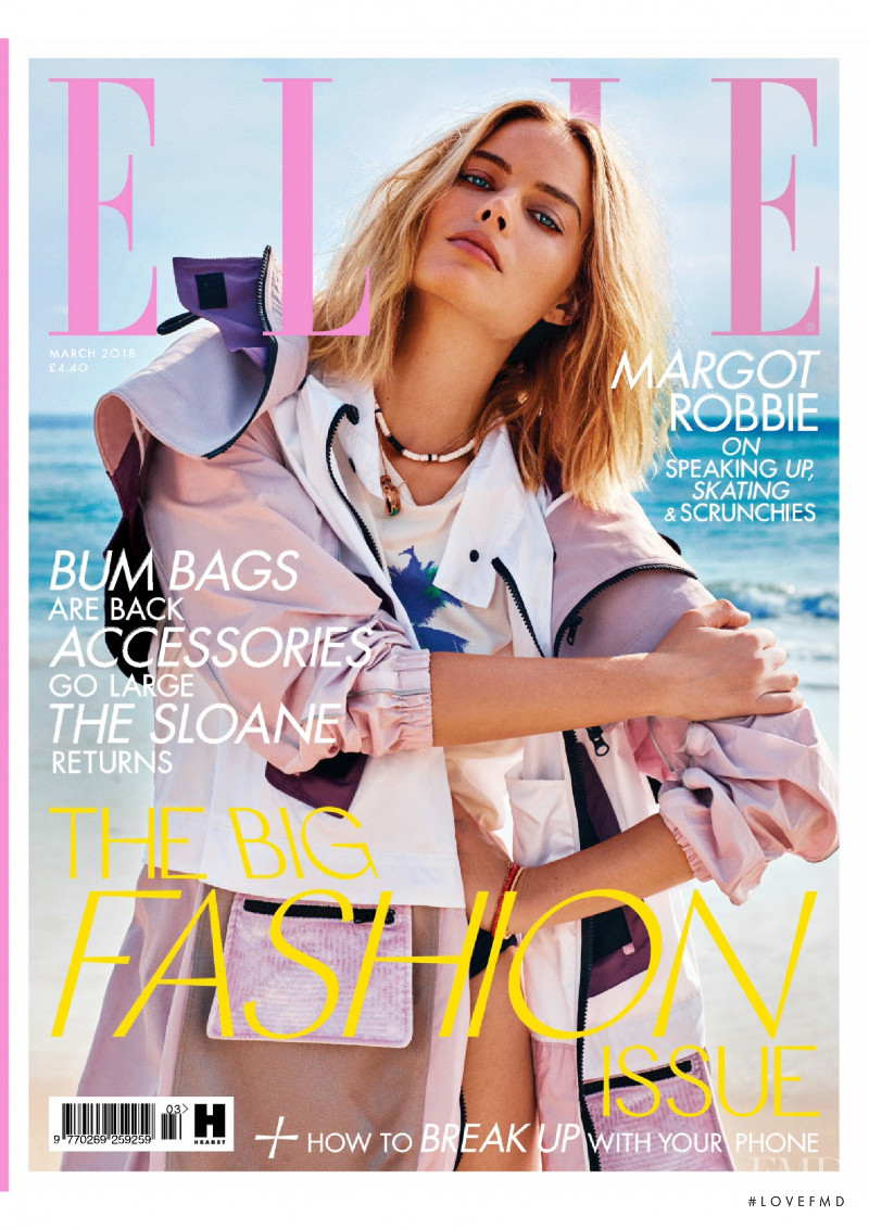 Margot Robbie featured on the Elle UK cover from March 2018