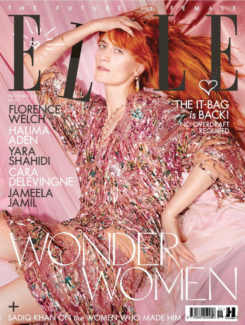 featured on the Elle UK cover from November 2018