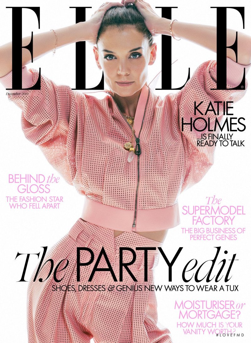 Katie Holmes featured on the Elle UK cover from December 2019