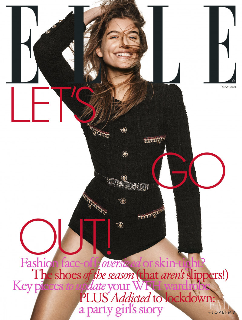 Altyn Simpson featured on the Elle UK cover from May 2021